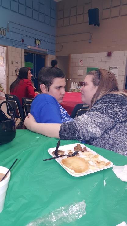 Destiny feeding Dylan